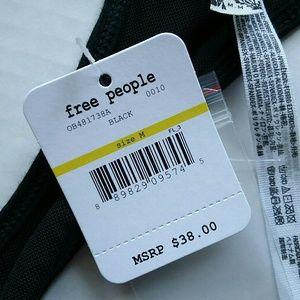 Free People Intimates & Sleepwear - Free People Black Bralette Racerback Rib Top NWT